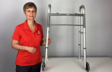 How to get a walker thru a narrow doorway