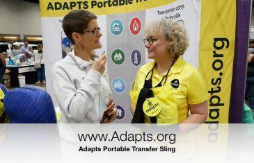 adapts portable transfer sling