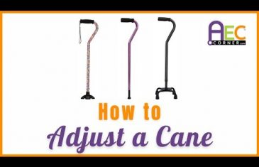 how to adjust a cane