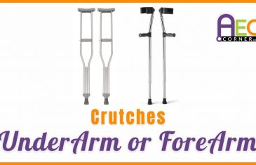 crutches under or fore
